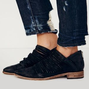 NEW Free People Lost Valley Ankle Boot in Black